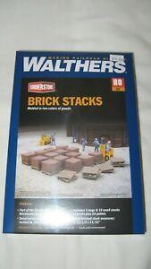Walthers Cornerstone HO Brick Stacks  #933-4103 New in Box