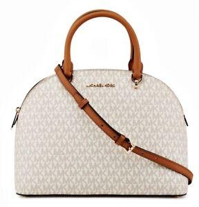 Details about Michael Kors Bag Handbag Emmy LG Dome Satchel Vanilla NEW 35t9gy3s3b show original title