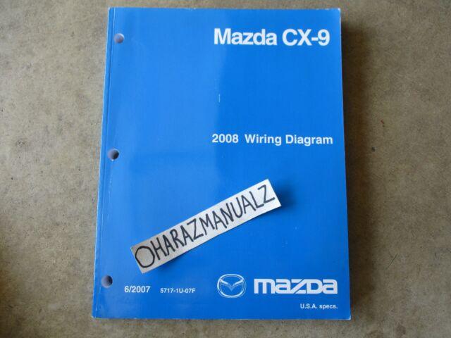 2008 MAZDA CX-9 Wiring Diagrams Manual OEM | eBay