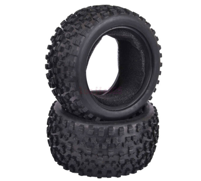 2PCS 85*42mm RC 1/10 Off-Road Buggy Car Rear Foam Rubber Tyre Tires 06025 7008R