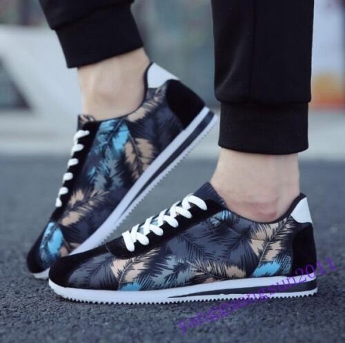 Men/'s Lace Up Sport Running Low Top Breathable Floral Sneakers Shoes Athletic F2
