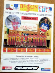 Cyclisme-Guide-Equipe-BESSON-CHAUSSURES-annee-2000-COMPLET