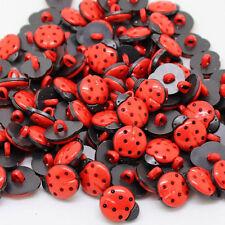 50Pcs Botón Costura Artesanía Scrapbook prenda Mariquitas Hazlo tú mismo los botones de ropa