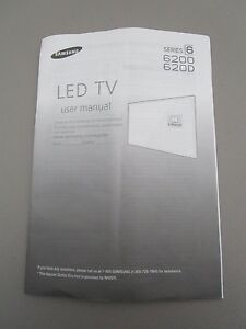 samsung led tv series 6 6200 620d user manual new ebay rh ebay com samsung led tv series 6 6200 manual samsung led tv user manual series 6