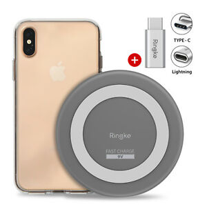 For-iPhone-XS-Max-XR-XS-Ringke-Wireless-Charger-Fusion-Onyx-Cover-Case