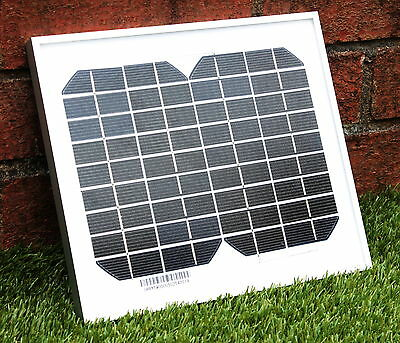 5W 12V Solar Panel Monocrystalline With 2m Cable Crocodile Clip Battery Charging