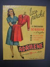 SMACCHIATORE ADRILENE Vetrofania Decalcomania ORIGINALE 1950 Oppi Milano
