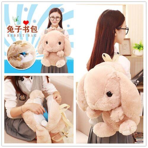 Student Bunny Backpack Ladies Kawaii Plush Doll Rabbit FGUIG School Shoulder Bag