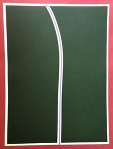 Helmut dirnaichner, lineare Verde II, seriegraphie, 1972, a mano firmato e datato