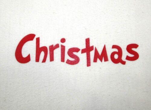 "2/""X6/"" DIY Iron On Name Christmas Font U Pick Color Matte or Glitter Vinyl"