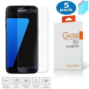 5x Nacodex For Samsung Galaxy S7 Ballistic HD Tempered Glass Screen Protector
