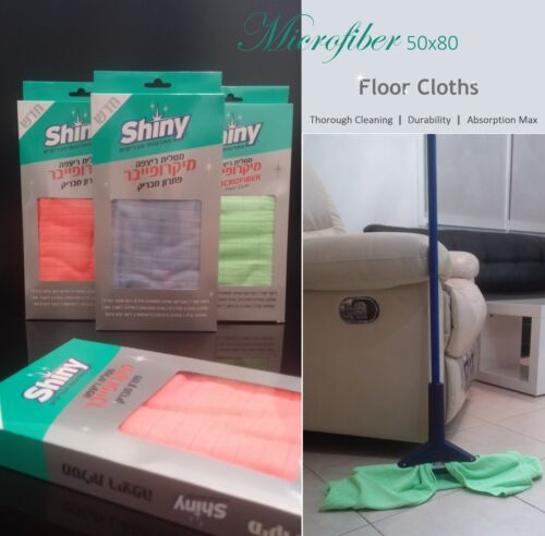 New Microfiber Floor Cloths 50X80 Cleaning Home Car Towels Kitchen Mop Rags LOT