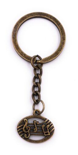 Notenfolge Note Porte-Clés Bronze en Métal