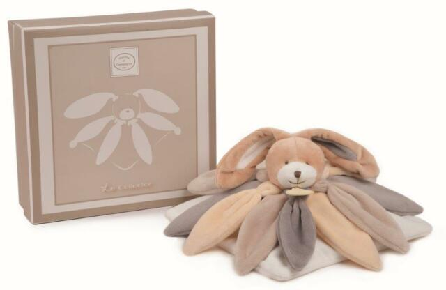 Doudou et Compagnie Collector Lapin plat gris Taupe  28cms DC2792 article neuf