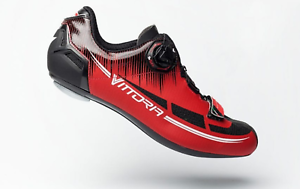 Vittoria Fusion High-Quality Coiler Road Bike Cycling shoes US 6 38 NEW  Red