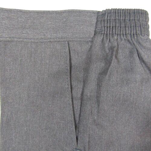 Kids Boys School Uniform Pull Up Trousers Bottoms Teflon Elasticated 1-13 Years