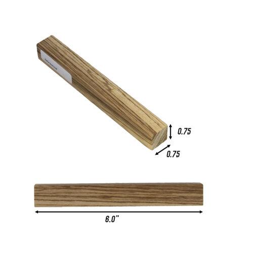 "DCTWood Turning Blanks 2pk 3//4/"" x 3//4/"" x 6/"" Inch Zebrawood Wood Pen Blanks"