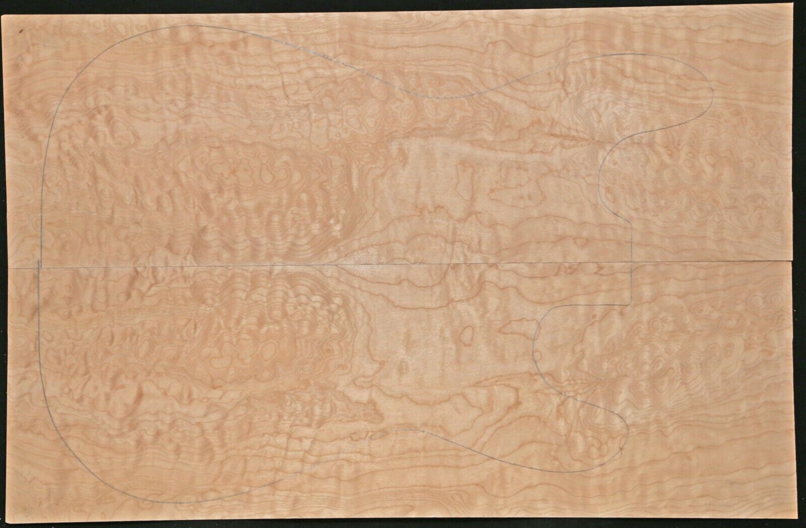 Quilted Maple Bookmatched Tonewood Set - 1 8  Guitar Top -  118