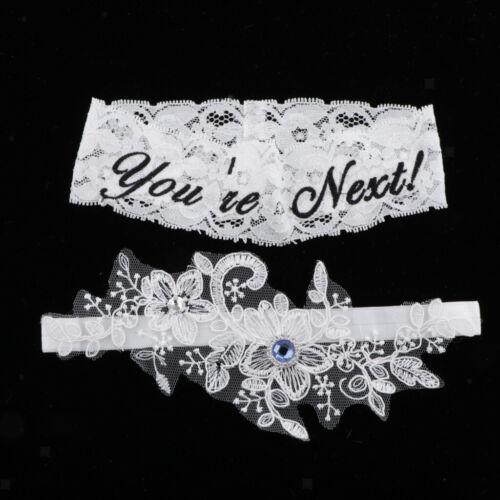 "Funny /""You/'re Next/"" Wedding Lace Flower Leg Garter Belt Thigh Strap for Brides"
