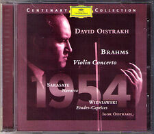 David & Igor OISTRAKH: BRAHMS Violin Concerto SARASATE Navarra WIENIAWSKI DG CD
