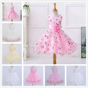 Flower Girl Dress Princess Pageant Wedding Birthday Party Bridesmaid