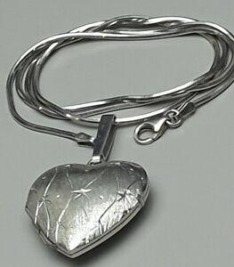 Design-Anhaenger-Foto-Medaillon-835-Silber-Wappen-Punze-amp-pass-Silberkette-A397