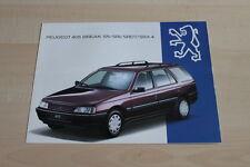 102703) Peugeot 405 Break SR SRI SRDT SRX 4 Prospekt 07/1993