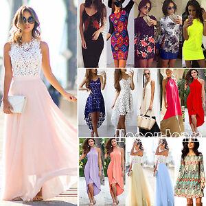 Womens-Maxi-Boho-Long-Dress-Summer-Casual-Evening-Cocktail-Party-Beach-Sundress
