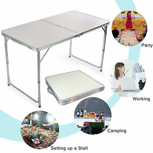 4FT-Folding-Camping-Table-Aluminium-Picnic-Adjustable-Party-Outdoor-Lightweight