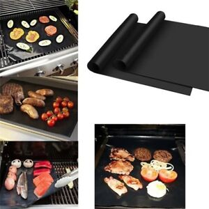 BBQ-Silicone-Baking-Mat-Cooking-Mat-Black-Reusable-Nonstick-Sheet-Oven-Tray-FAS