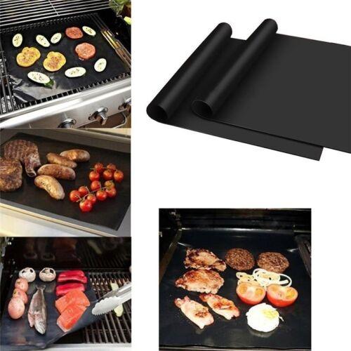 Baking Mat BBQ Cooking Mat Nonstick Sheet Oven Tray Reusable Black NeReusable