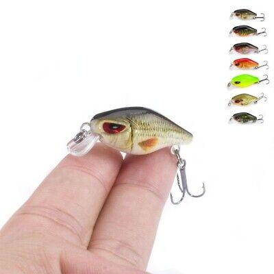 Mini Crankbait Hard Fishing Lures Trolling Rattling Baits 5pcs//Lot Small Lure 2g