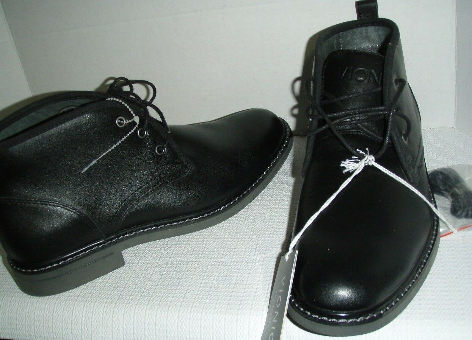 Vionic hombre Ryan Cuero ortopédico Con Cordones Zapatos Bota, Negro