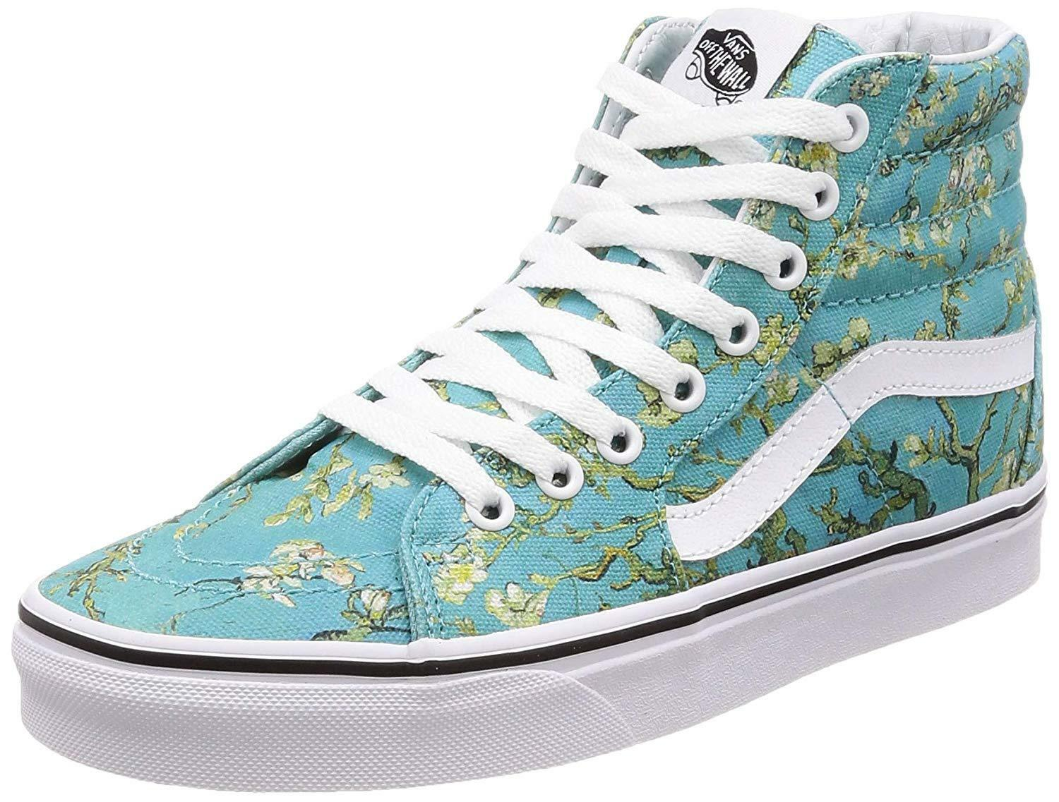 NEW Vans Sk8 Hi VINCENT VAN GOGH Almond Canvas shoes 3.5 MENS