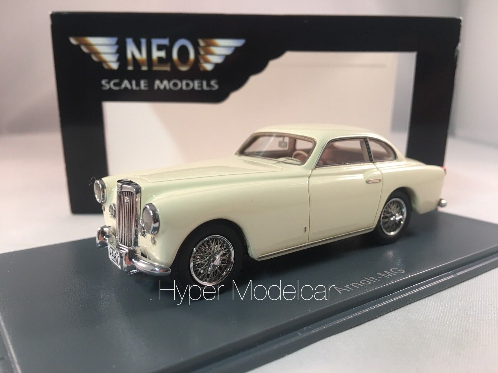 NEO SCALE MODELS 1 43 MG TD Arnolt Continental Sports 1953 blanc Art. NEO44611