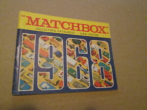Details about 1968 MATCHBOX COLLECTORS CATALOGUE U S A  EDITION