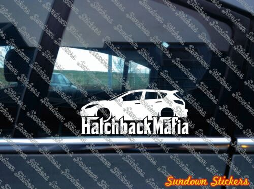Lowered HATCHBACK MAFIA sticker 2010-2013 for Mazda 3 Mazdaspeed MZR