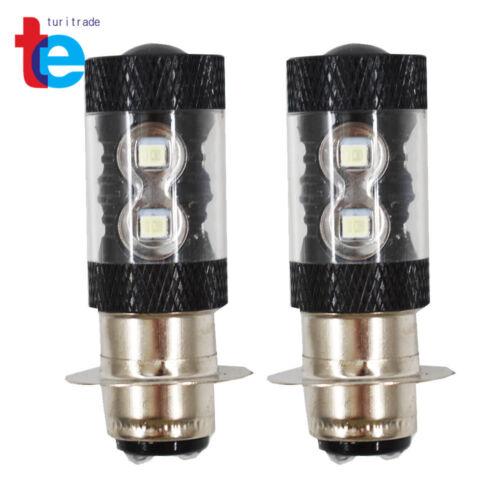 2x 50W LED Headlights Bulbs For Yamaha Wolverine 450 2006-2010 8000K Ice Blue