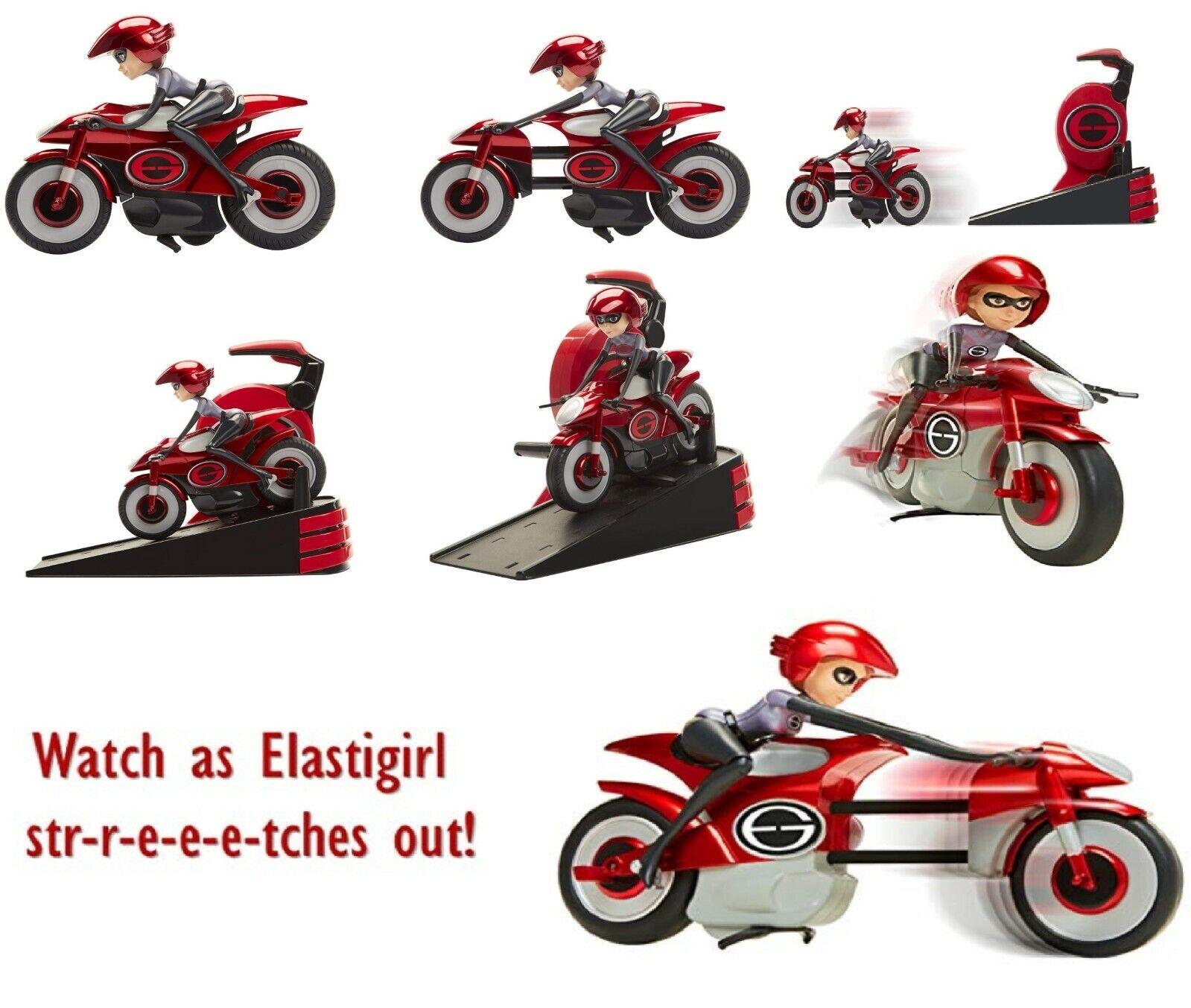 Otroligt två långa Elastic -cyklar Elastigirl spelagset 3 leksaksbil cykel