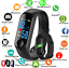 Smart-Band-Watch-Bracelet-Wristband-Fitness-Tracker-Blood-Pressure-HeartRate-M3s thumbnail 1