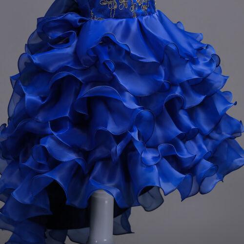 Fleur Fille Enfants Bébé Princesse Mariage Demoiselle D/'Honneur Fête Robe Long