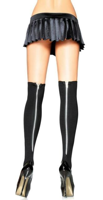 Opaque Nylon Thigh Highs Stockings Fancy Dress Adult Costume Accessory 8 COLORS