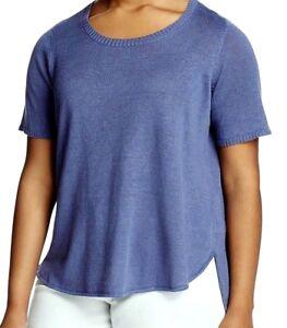 a3da575bd0f  148 Nwt Eileen Fisher Scoop Neck Sweater Top Organic Linen Knit ...