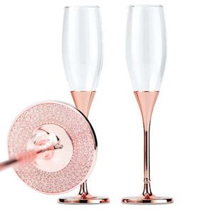 Details Zu Sektgläser Set Rosé Gold Crystal Grav Mögl Sektempfang Hochzeit Sekt Geschenk