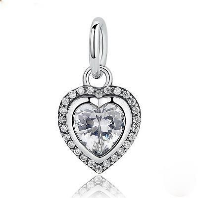 Hochzeitsschmuck Herz Anhänger Zirkonia Weiß Echt 925 Sterlingsilber Silber A2681 Hell Und Durchscheinend Im Aussehen Echtschmuck