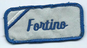 Fortino name tag patch 1-5/8 X 3-5/8