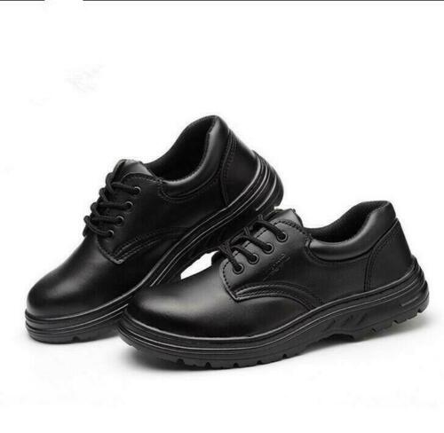 Men/'s SAFETY Shoes Steel Toe WORK Boots Lace-up leather Fashion Casual Shoes 05