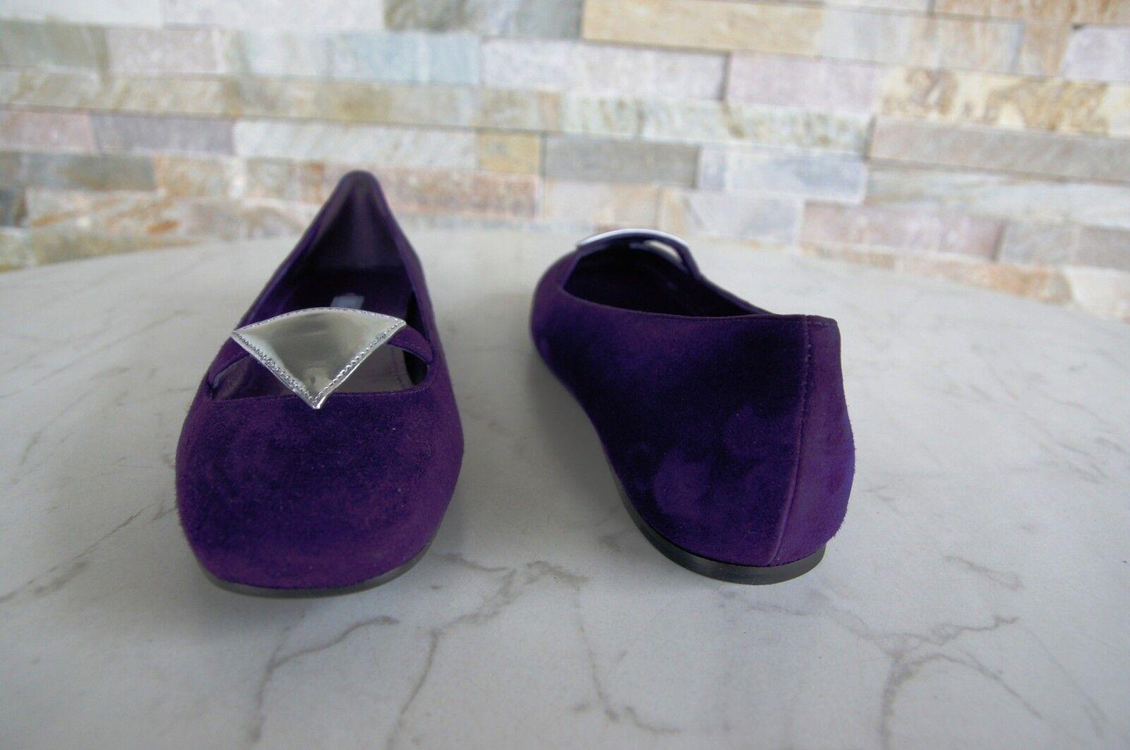 PRADA Gr 37 Ballerinas Slipper Schuhe schuhe Ziege 1F355F Ziege schuhe violett NEU 5c33fe