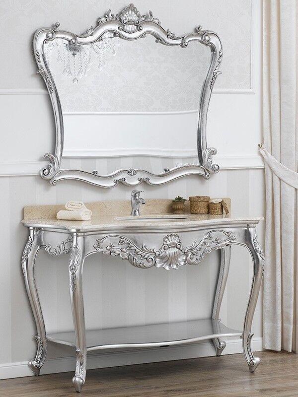 Consolle e specchio Eleonor stile bagno Barocco Moderno arRouge o ...