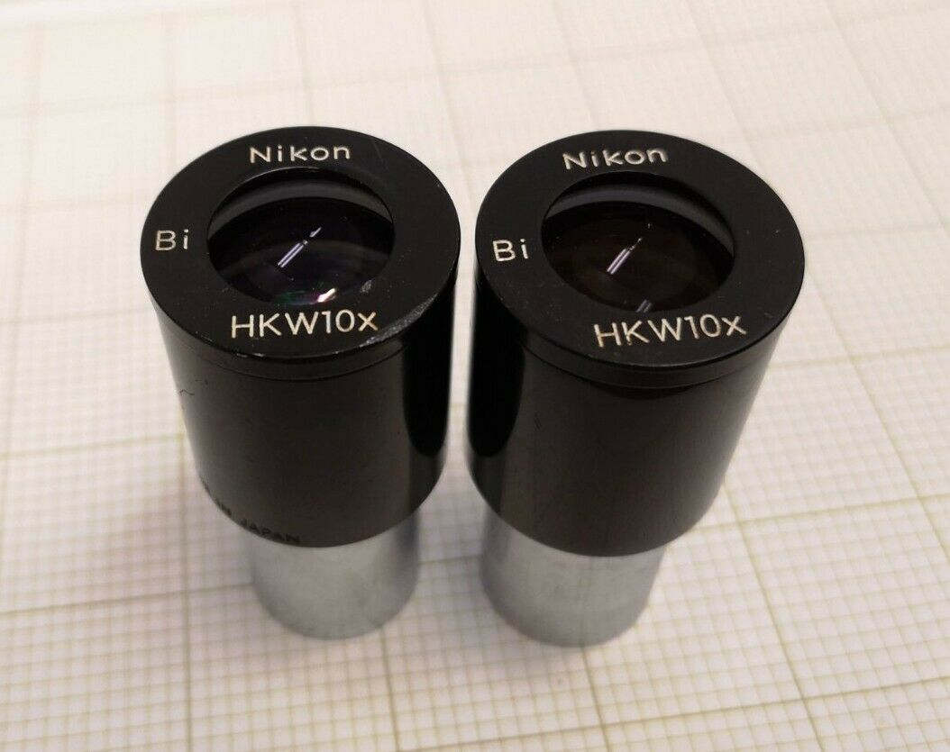 OMAX A Pair WF10X//18 Widefield Microscope Optical Eyepieces 23.2mm Dia